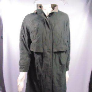 Fleet street trench coat w/hood black sz 10